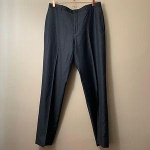 polo men dress pants virgin wool extra fine 36x34
